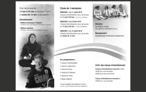 Club d'Escrime Olympia Longueuil camps entrainement 2019